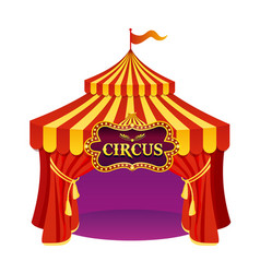 Bright colors circus tent vector