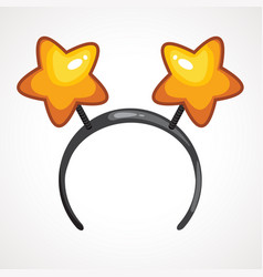Cartoon headband icon with star shape ears vector