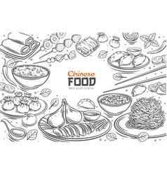 Chinese cuisine menu vector