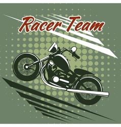 Classic motorcycle race team design vector