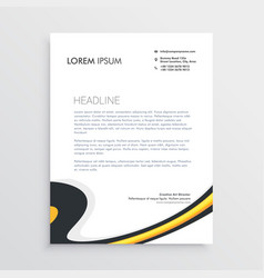 Clean modern business letterhead template design vector