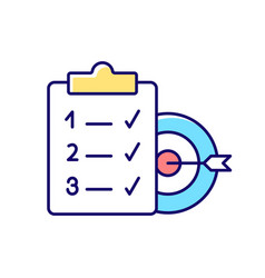 Clear goals rgb color icon vector