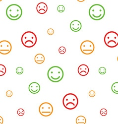 Color smiley faces seamless pattern vector image