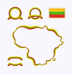 Colors lithuania vector