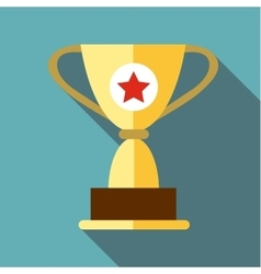 Cup for victory icon flat style vector image
