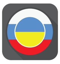 dark grey round edge button with ukraine vector image