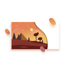 day environment with sky clouds vector image