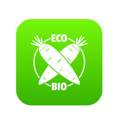 eco bio vegetables icon green vector image
