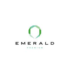 Emerald diamond logo icon vector