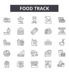 food track line icons for web and mobile design vector image