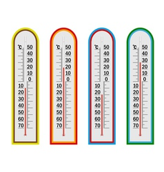 Four thermometer vector