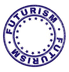 Grunge textured futurism round stamp seal vector