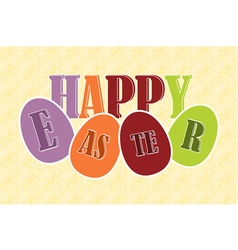 Happy easter eggs with text vector