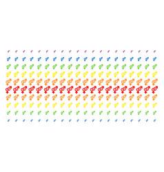 heterosexual symbol shape halftone spectrum vector image