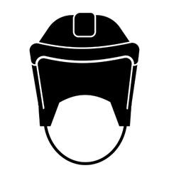 Hockey helmet icon simple style vector