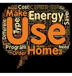 Home energy use comparisons 1 text background vector