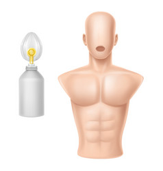 human body for training of artificial vector image