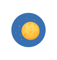 Icon planet in space vector
