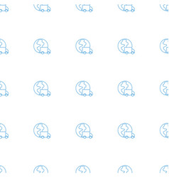 International delivery icon pattern seamless vector