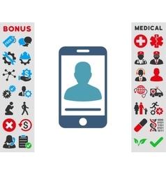 Mobile Contact Icon vector