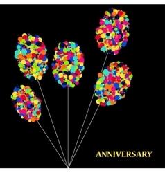 Modern abstract circle balloons on dark vector