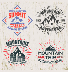 mountains outdoor adventure t-shirt print vector image