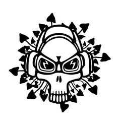 music theme skull vector image
