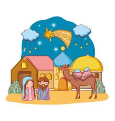 Nativity christmas cartoon vector