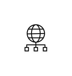 network internet server icon vector image