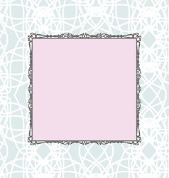 Pink square vintage stylized frame vector