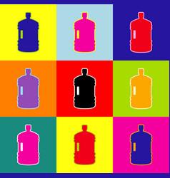 plastic bottle silhouette sign pop-art vector image