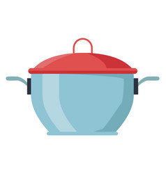pot with lid kitchen utensil vector image