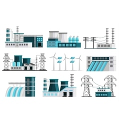 Power Generation Elements Set vector