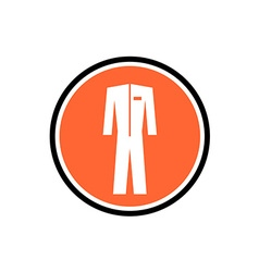 Protective suit icon One color symbol in a round vector
