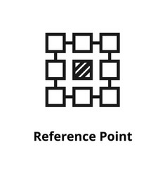 Reference point line icon vector