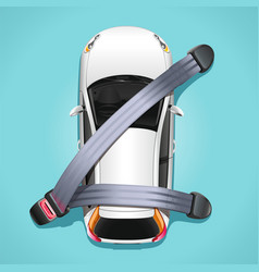 Safety car seat belts concept vector