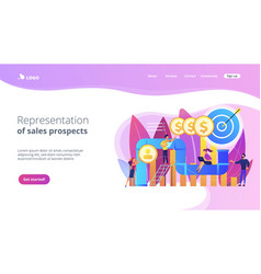 Sales pipeline management concept landing page vector