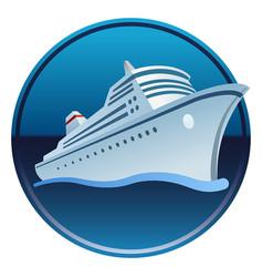 sea cruiser in ocean vector image