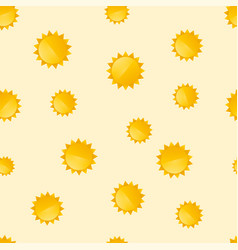 seamless background with the motif of suns vector image