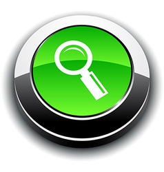 Searching 3d round button vector image