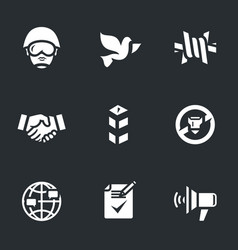 Set of peacemaker icons vector