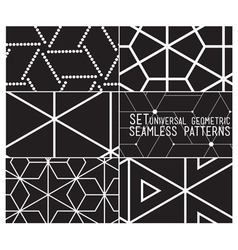 Set patterns vector image