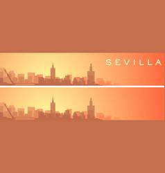 Seville beautiful skyline scenery banner vector