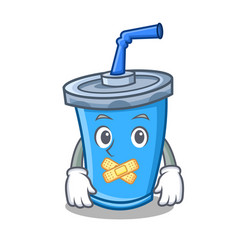Silent soda drink character cartoon vector