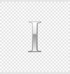 silver roman numeral number 1 i one in alphabet vector image