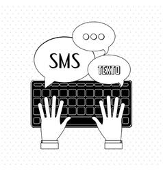 SMS icon design vector image
