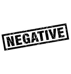 Square grunge black negative stamp vector