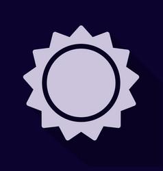 Sun icon trendy summer symbol for website design vector