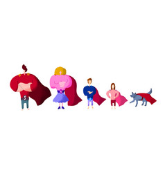 super hero family - mom daddy and children and vector image