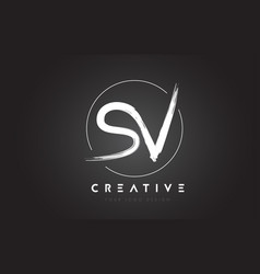 sv brush letter logo design artistic handwritten vector image